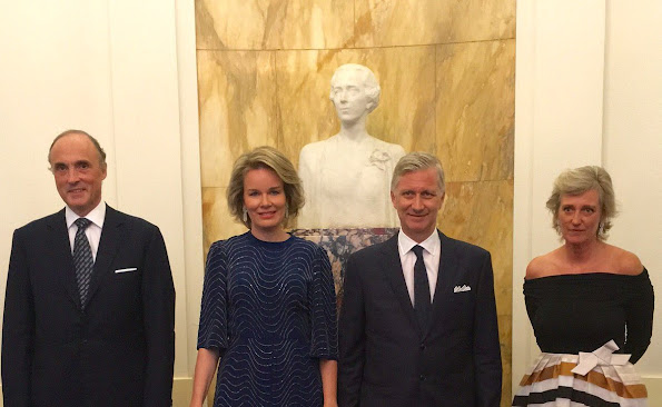 King Philippe, Queen Mathilde, Princess Astrid and Prince Lorenz attended a prelude concert