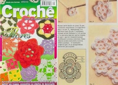 27 Flores diferentes con sus patrones, revista