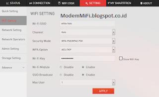 Setting Modem Smartfren Andromax 4G LTE M2Y