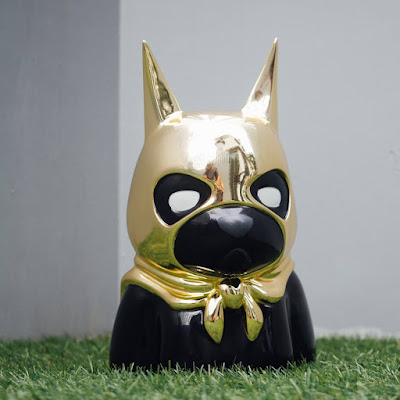 Bat Bear Gold Edition Resin Bust by Luke Chueh x Mighty Jaxx