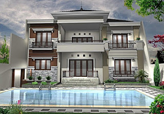 luxury 2-storey minimalist home design - Lampung interior house