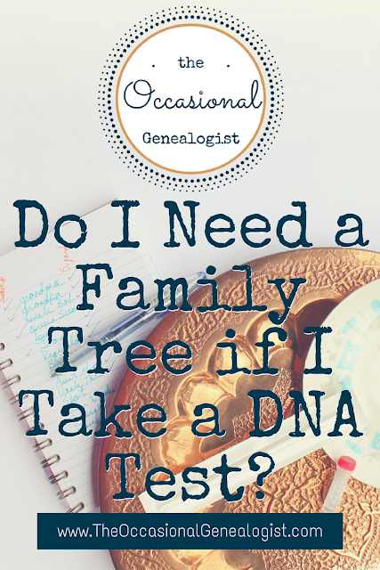image of DNA swab test kit with text overlay Do I need a Family Tree If I Take a DNA Test?