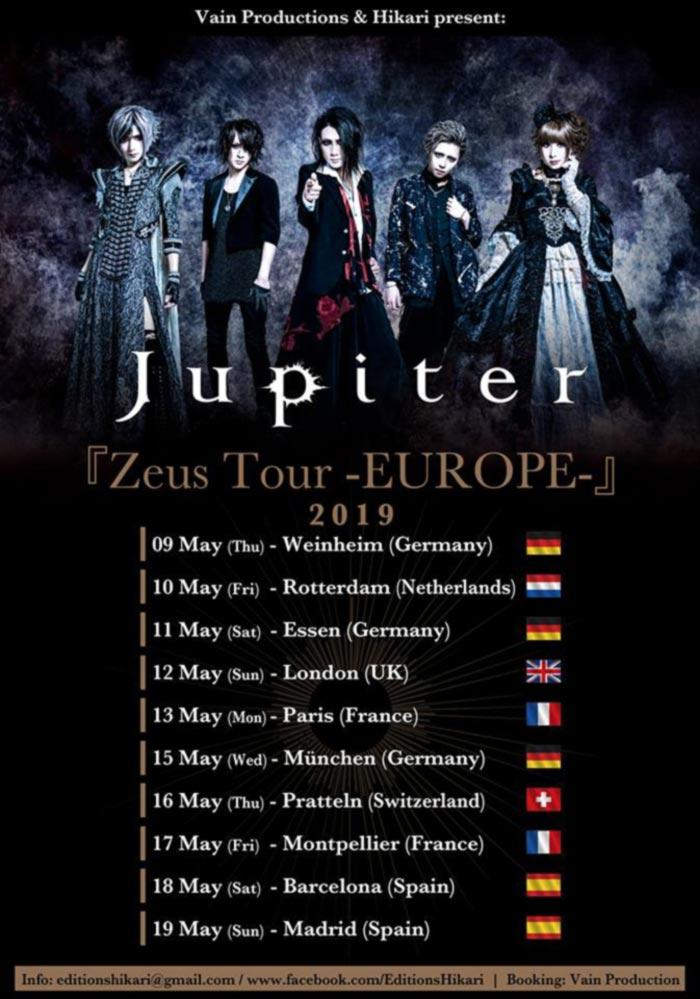 Jupiter - Zeus Tour EUROPE 2019