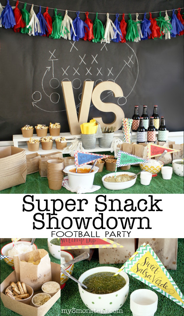 Host a Super Snack Showdown at your party for the Big Game with these delicious recipes and decorating ideas from my3monsters.com