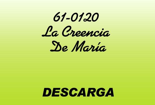 La Creencia De María MP3 - William Marrion Branham