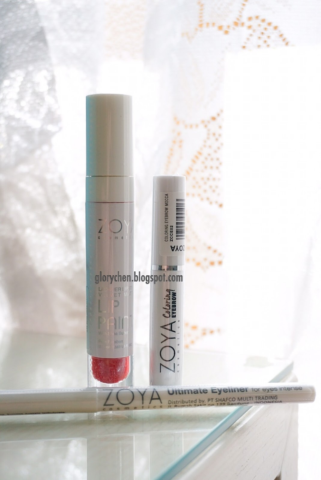Zoya Lip Paint Pure Red Ultimate Eyeliner And Coloring Lacquer Lipstick Velvet Matte