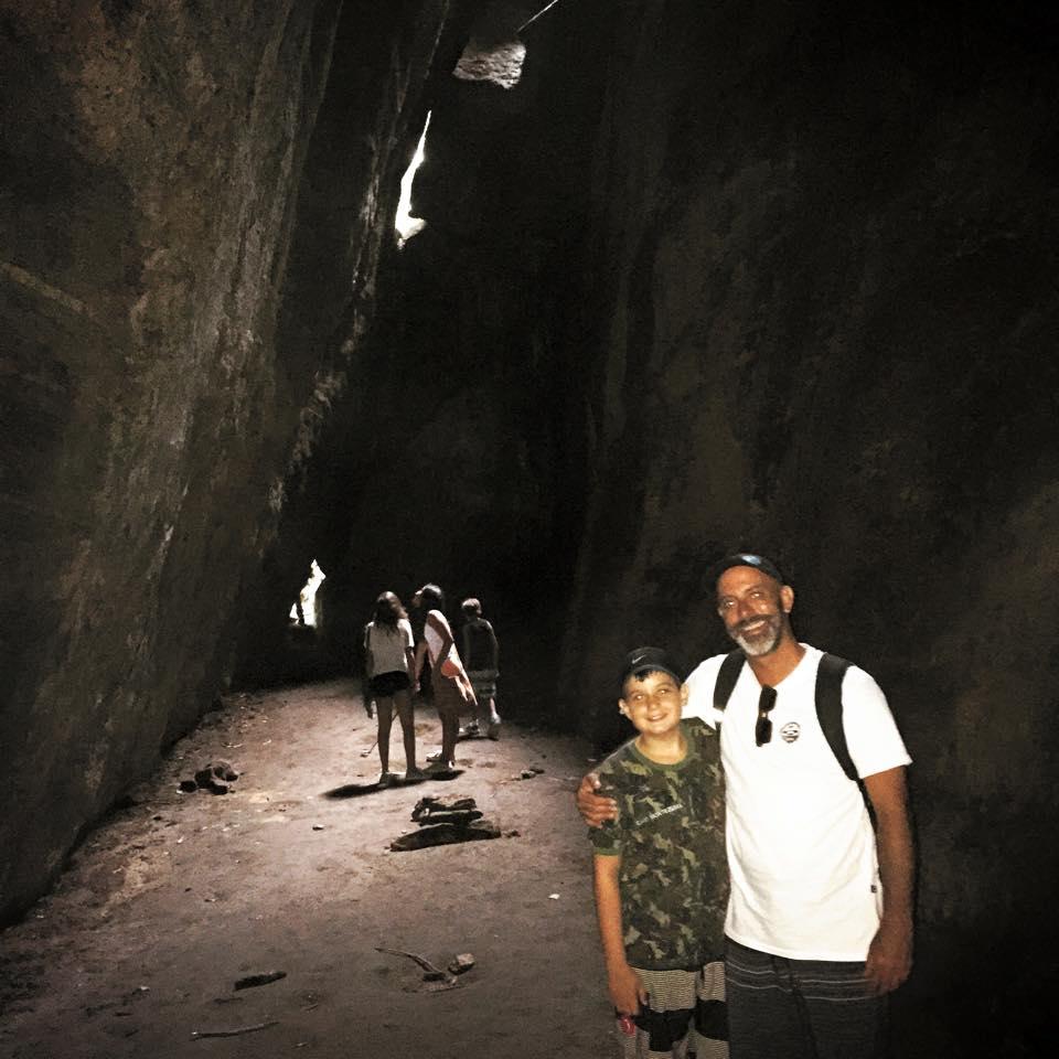 Christian com o filho Caio Montezuma