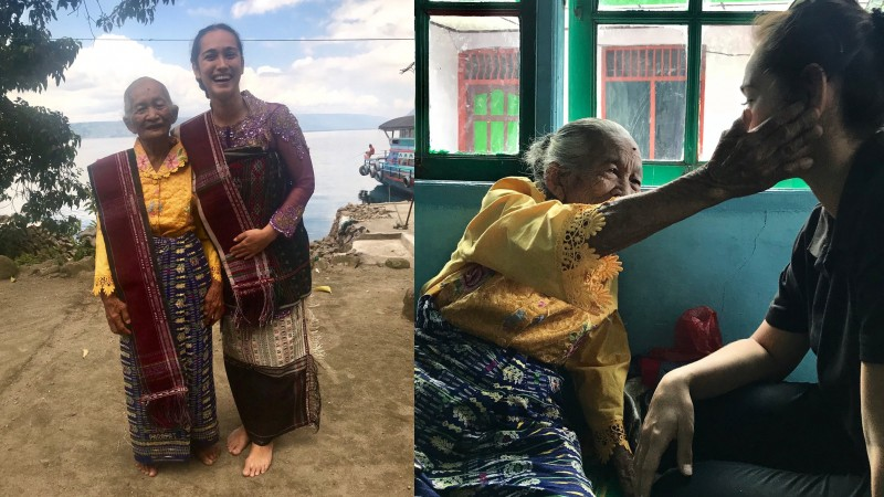 Alexandra Gottardo bertemu Opung Saulina