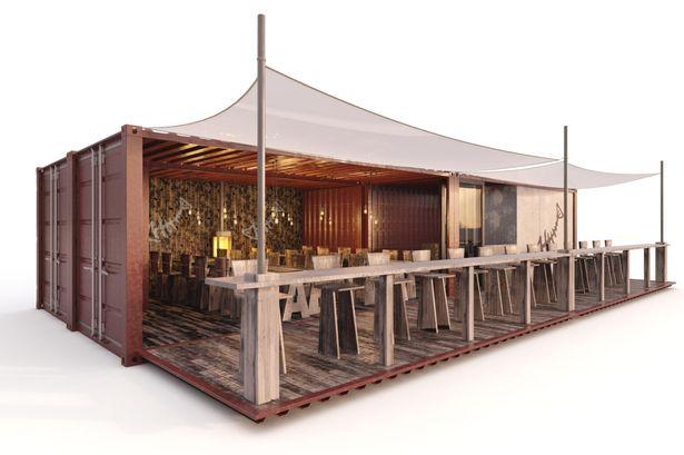 Elegant Design Shipping Containers Restaurant Container