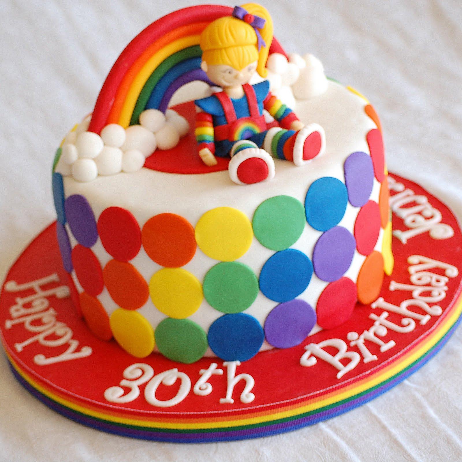 Cakefilley Rainbow Bright Birthday Cake