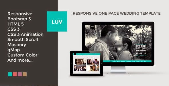 Best Responsive One Page Wedding Template