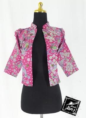Baju Rompi Batik Kerja Guru Perempuan