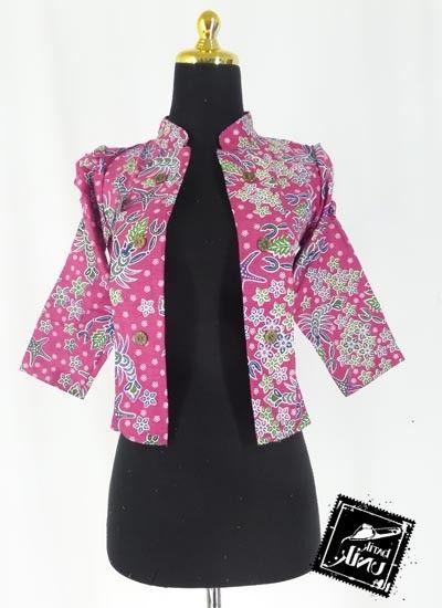 model Baju Blazer Muslim batik Kerja terbaru
