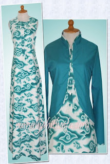 Gamis Batik Dengan Bolero