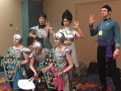 """Our friends from """"And Sewing Is Half The Battle"""" in their Amok Time Star Trek group"""