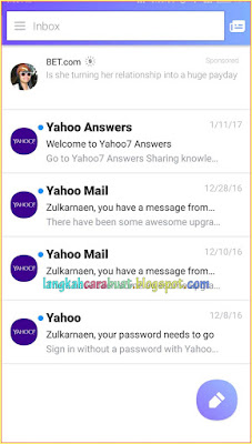 Cara Setting Email Yahoo Di Android