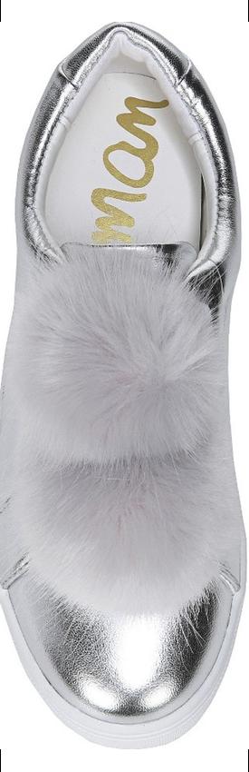 Sam Edelman 'Leya' Faux Fur Laceless Sneaker