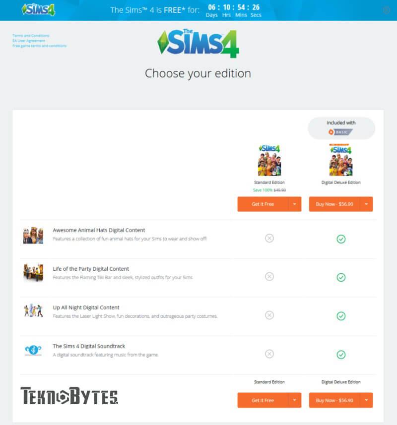 Game The Sims 4 gratis