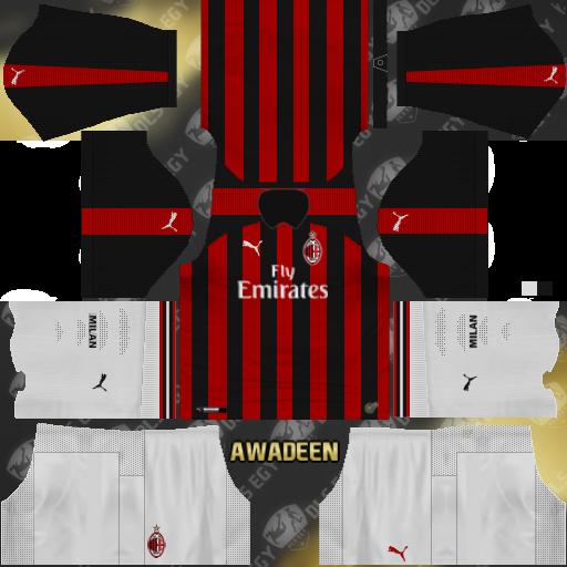 promo code d246b b66fc AC Milan Kits 2017 2018 Dream League Soccer Kuchalana