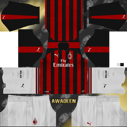 ef826cc94bf AC MILAN KITS 2019/2020 FOR DREAM LEAGUE SOCCER KITS - KITS FTS