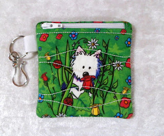Garden Westies Zipper Coin Purse