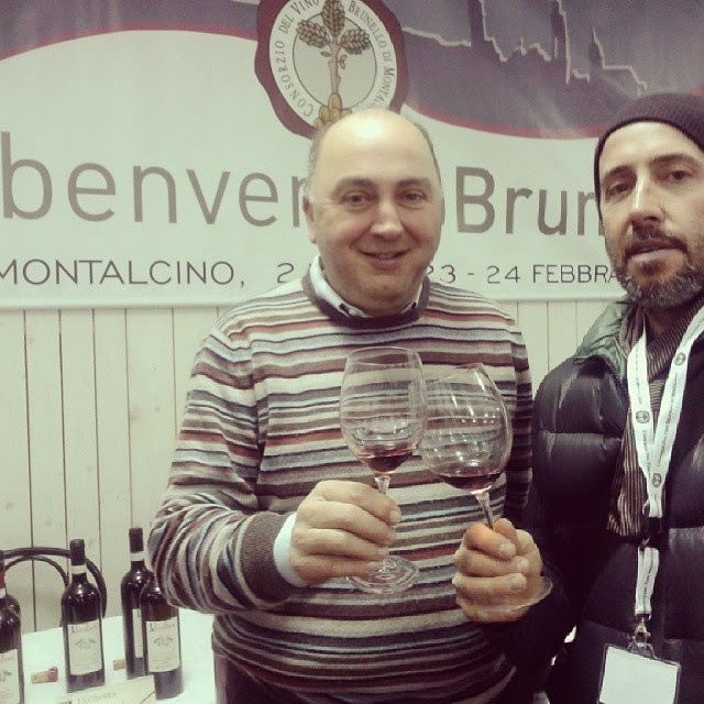 Brunello producer Andrea Cortonesi and journalist Sergio Fabiani