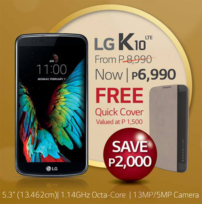 LG K10 With MT6753 Octa Core Processor Goes On Sale, Now Priced At PHP 6990!