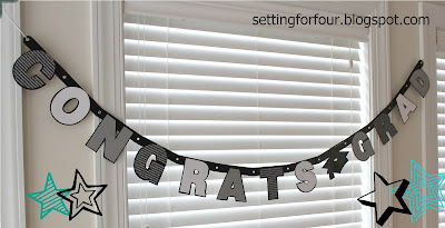 Make this EASY DIY Congratulations Graduate Banner to celebrate your teen's graduation in colors to match the theme of your graduation party! Includes craft tutorial instructions and supply list. No Cricut or Silhouette machine required!