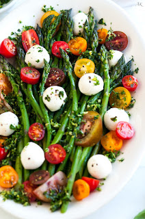 caprese salad with asparagus vegetarian asparagus recipe