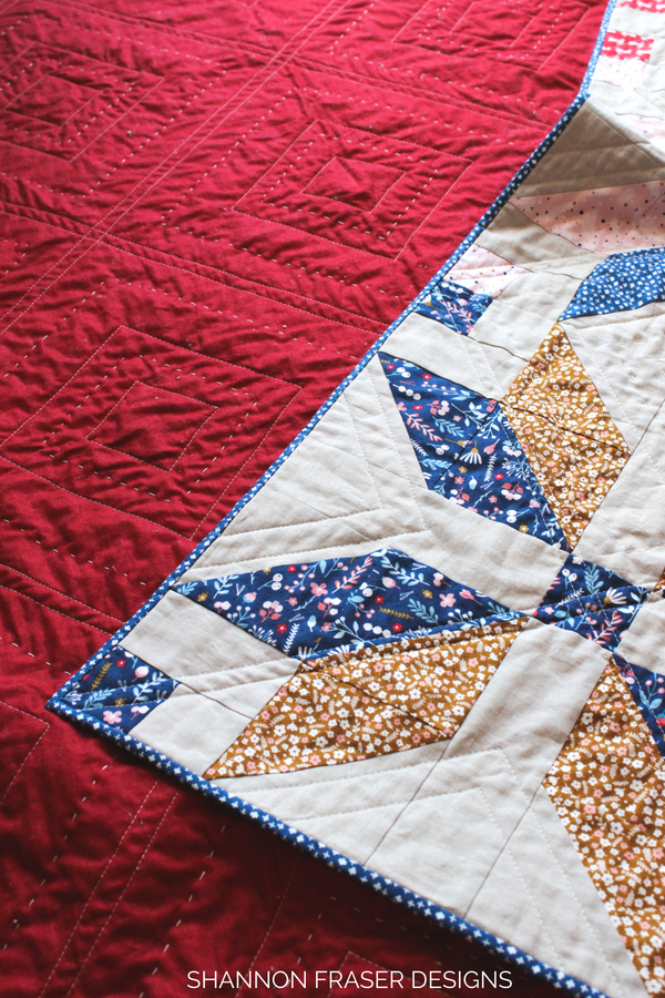 Forest Talk Winter Star Quilt | Shannon Fraser Designs | Quilt Pattern | Modern Interior Design | #modernquilting #easyquiltpattern