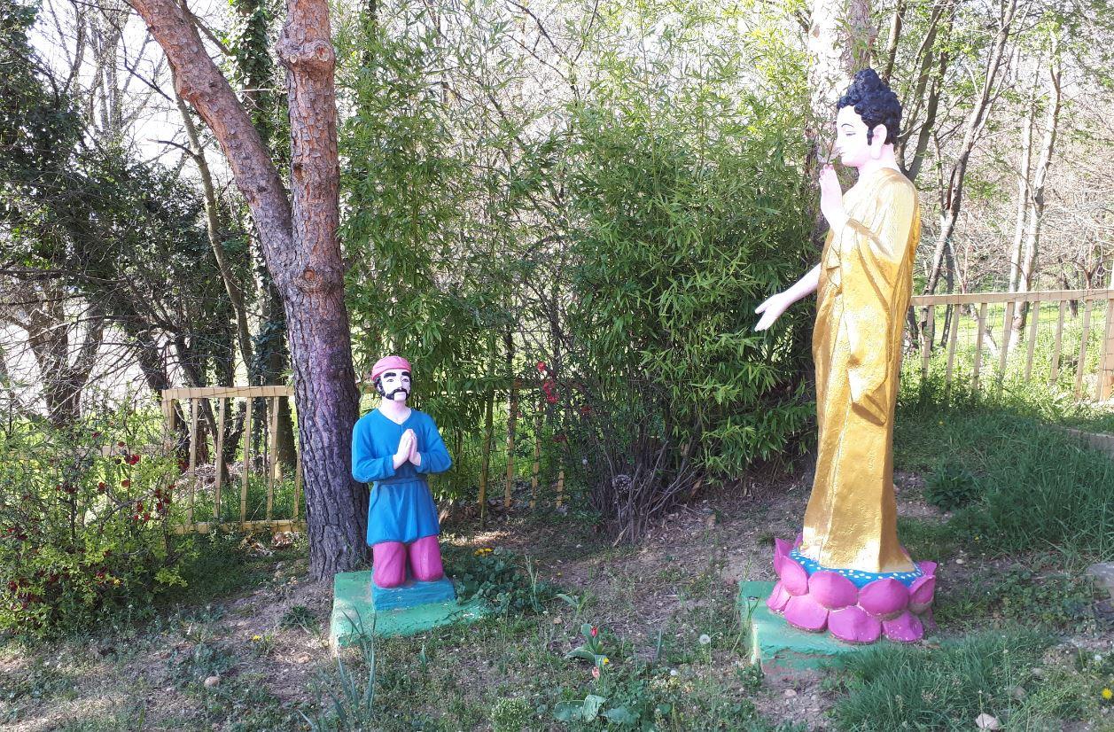 Shakyamuni : Angulimala temple de lyon