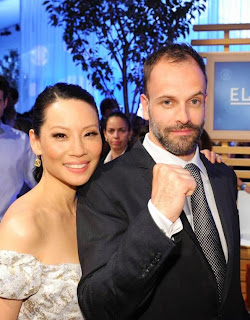 Jonny Lee Miller and Lucy Liu in CBS Elementary