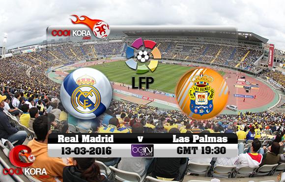 مشاهدة مباراة لاس بالماس وريال مدريد اليوم 13-3-2016 في الدوري الأسباني