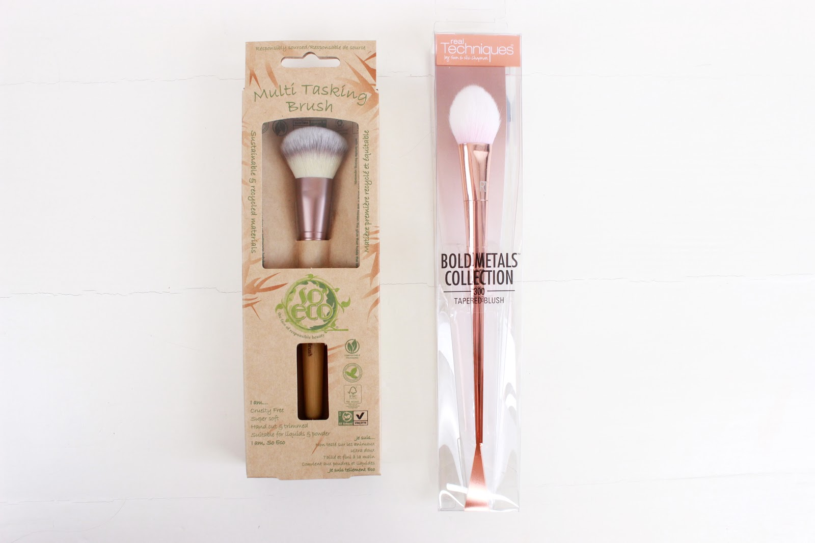 So Eco and Real Techniques Makeup Brushes
