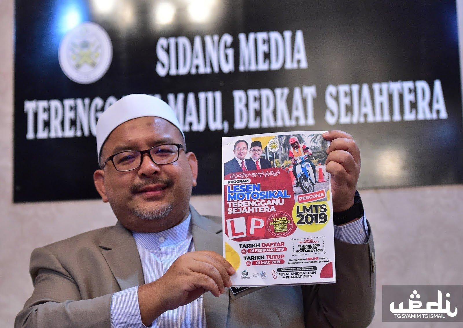 Permohonan Lesen Motosikal Percuma Untuk Rakyat Terengganu Dibuka 1 Februari 2019 Akif Imtiyaz