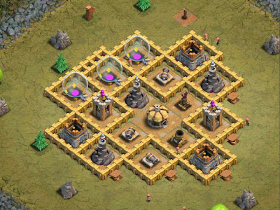 "Base Goblin Map ""35. Faulty Towers"" Clash of Clans"