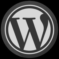 wordpress blackout icon