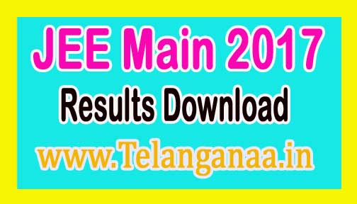 JEE Main 2017 Results Download