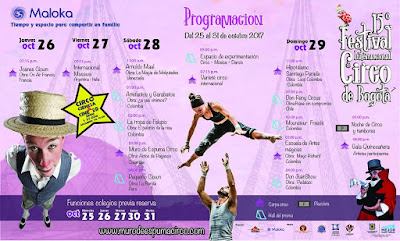 Programacion Festival Internacional de Circo de Bogotá 2017 MALOKA