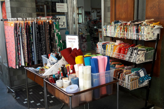Fabric shop in Heidelberg, Germany | Happy in Red