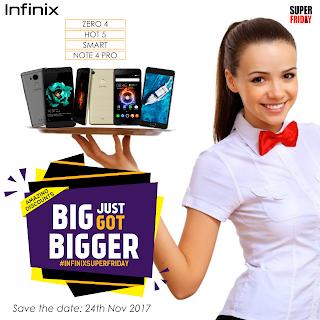 Buy Infinix Zero 5, Enjoy up to 5% Discount on all Infinix smartphones this Black Friday & Super Friday