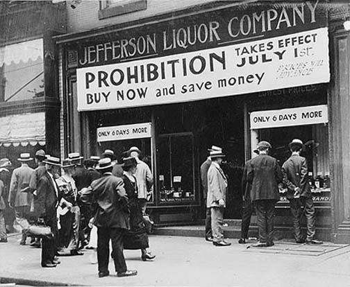 An analysis of the prohibition as the noble experiment in 1920s of united states