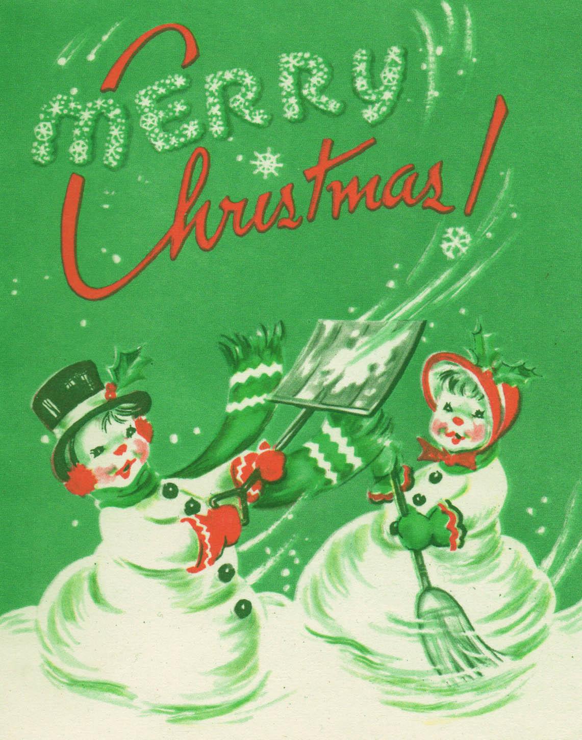 Free Vintage Digital Stamps Merry Christmas