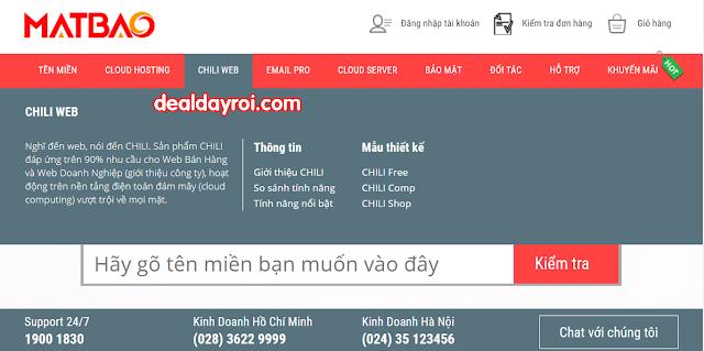 mắt bão, deal đây rồi, deal khuyến mãi, thiết kế website miễn phí