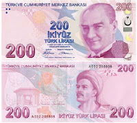 Turkish 200 Lira Banknote