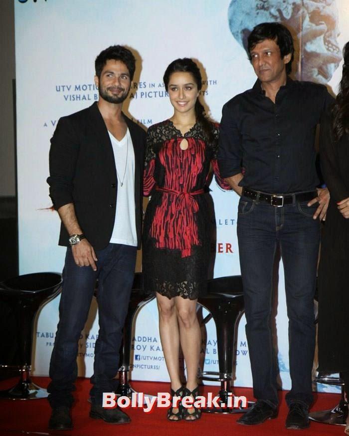 Shahid Kapoor, Shraddha Kapoor, Kay Kay Menon, Shraddha & Shahid Kapoor at 'Haider' Trailer Launch