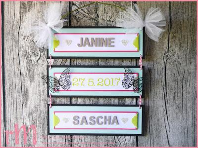 Stampin' Up! rosa Mädchen Kulmbach: Hochzeitsdeko nach einer Idee von Katharina Baranski mit Schmetterlingen und Thinlits Formen Beeindruckende Buchstaben