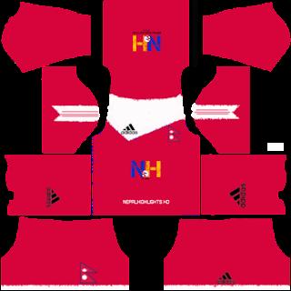 Blogger S Sansar A Blog From Nepal Dream League Soccer 2019 Nepal S Home Kit Jersey