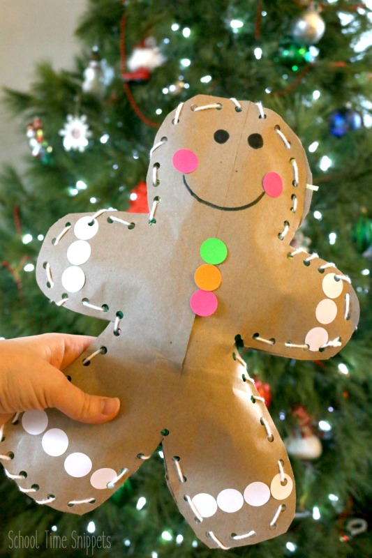stuffed gingerbread man craft