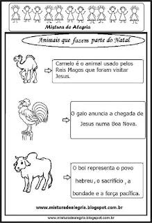 Animais que fazem parte do natal